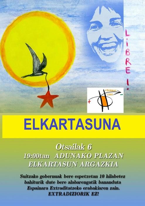 Elkarretaratzea Nekane Txapartegiri babesa emateko