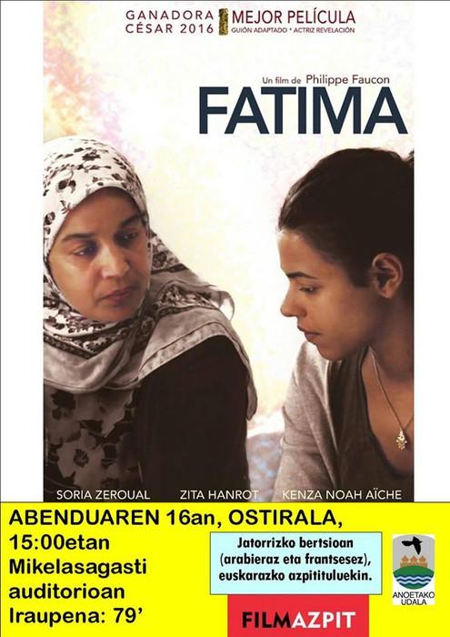 'Fatima' filma proiektatuko dute ostiralean