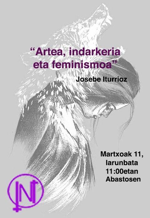 'Artea, indarkeria eta feminismoa' hitzaldia, Tolosan