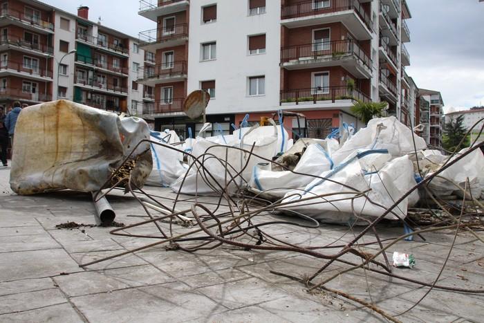Hiru egunetan, 10 metro kubiko hondakin atera dituzte Oria ibaitik