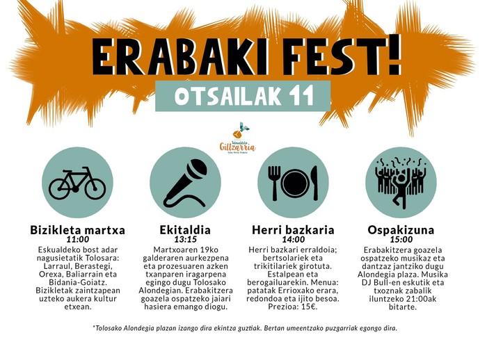 Erabakifest! festara joateko bizikleta martxan izen ematea