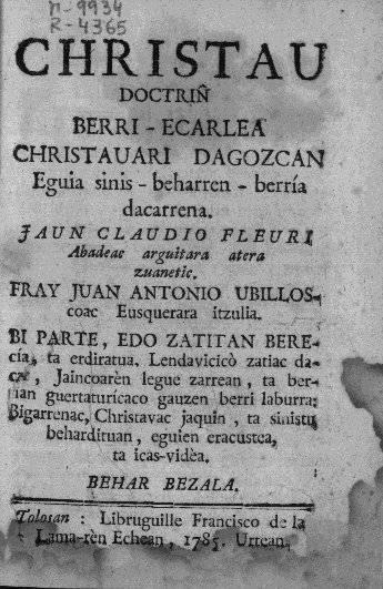 Ubillos edo Amasa-Villabonako idazle ezagun ahaztua