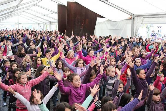 Emakumeen kontrako indarkeria salatzeko flashmob-a egingo da aurten ere