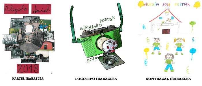 Tere Garmendia eta Felix Irazustabarrena, kartel eta logotipo lehiaketako irabazle