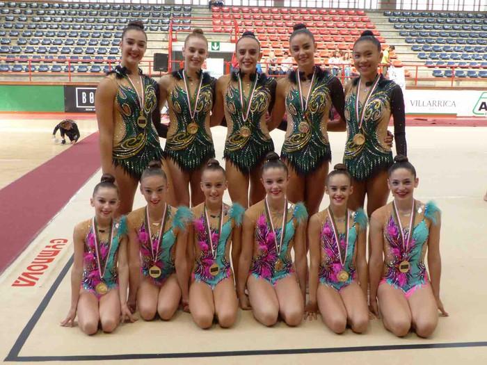 Tolosa Gimnastikako bi talde, Euskadiko txapeldun