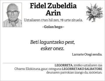 fidel Zubeldia Arin