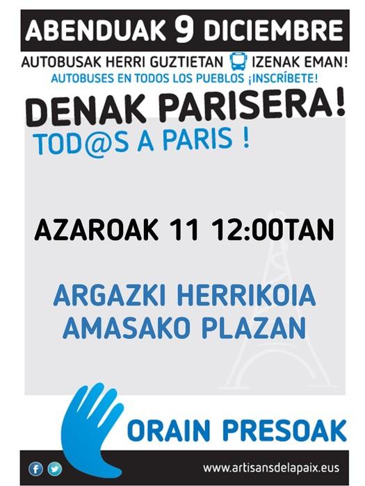 Presoen aldeko argazki herrikoia aterako dute Amasako plazan