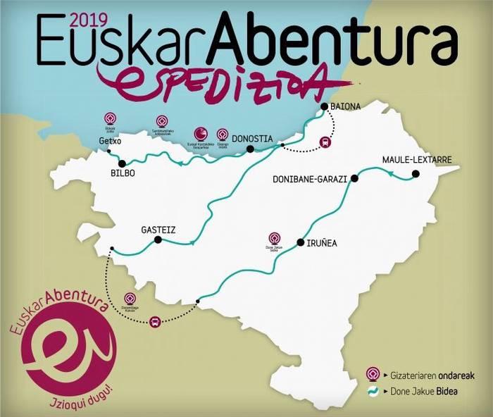 EuskarAbentura 2019, espedizioko egutegia eta etapak