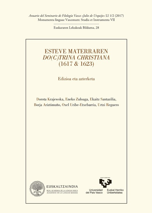 Eskualdeko bi filologo, Materraren 'Doctrina Christiana'ren edizio kritikoko lan taldean