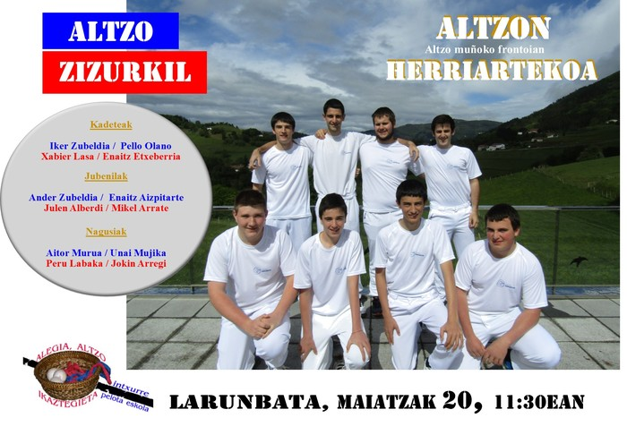 Herriarteko Pilota Txapelketa: Altzo - Zizurkil
