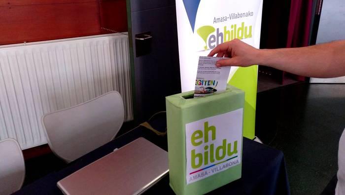 EH Bildurentzat 53 alkategai proposatu dituzte Amasa-Villabonan