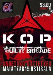 KOP eta The Guilty Brigade taldeen kontzertuak, ostiralean