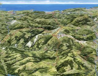 Hernio eta Zelatun turistei zabaltzeko mapa egin dute