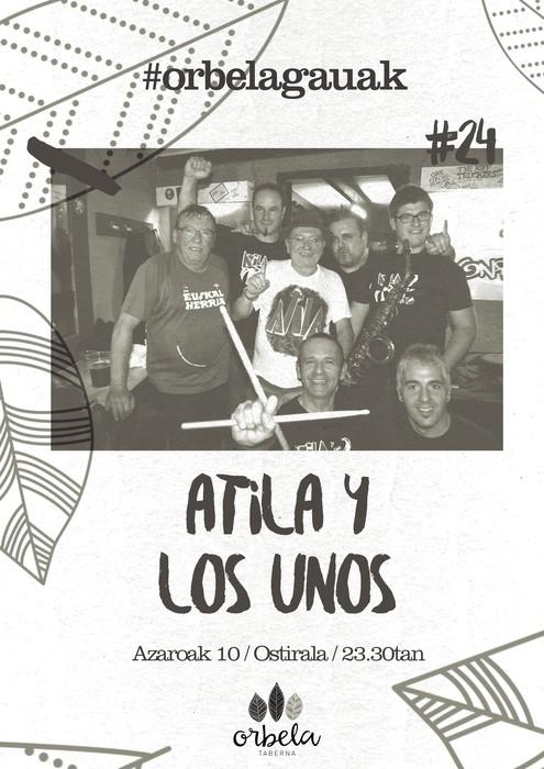 Atila y Los Unos taldearen kontzertua izango dugu ostiralean