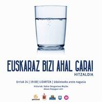 Hitzaldia: Euskaraz bizi ahal gara!