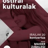 Ostiral kulturalak Orexako ostatuan: Maider Zabalegi