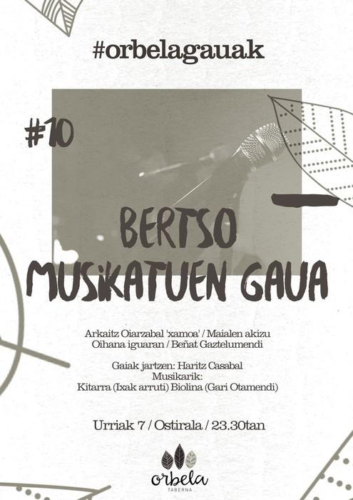 Bertso-musikatu gaua larunbatean