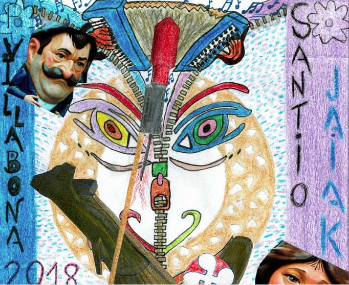 Santio jaietako programaren azala aukeratzeko lehiaketa martxan