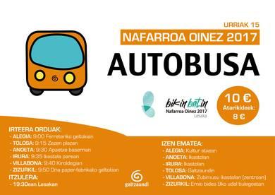 Nafarroa Oinez 2017: Tolosaldetik Lesakara autobusez