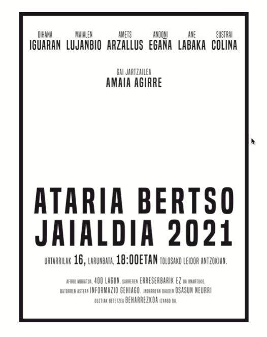 Ataria Bertso Jaialdia