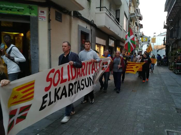 Sanchez eta Cuixarten askatasuna eskatzeko mobilizazioak, gaur