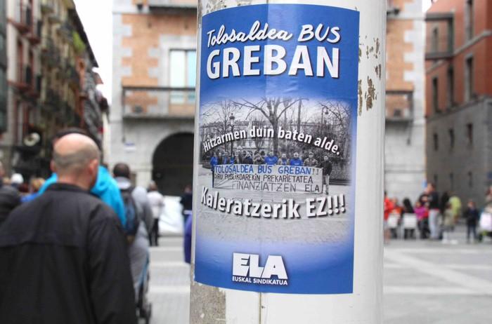 Aurrerapausorik ez Tolosaldea Bus-eko negoziazio mahaian