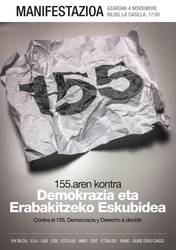155.aren kontra eta demokraziaren alde, bihar denok Bilbora!