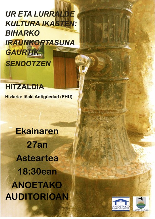 Iñaki Antiguedadek hitzaldia emango du Anoetan