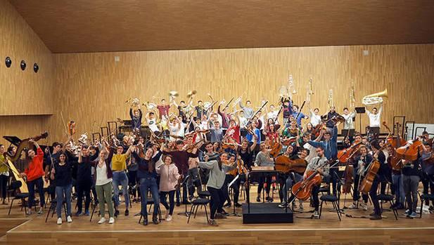 Eskualdeko bi ikasle, Euskadiko Ikasleen Orkestrarekin