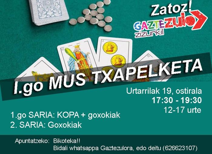 I. Mus Txapelketa antolatu du Zizurkilgo Gaztezulok
