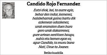 Candido Rojo Fernandez