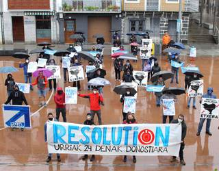 Plazaz plaza, euskal presoen eskubideen alde