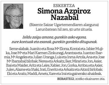 Ximona Azpiroz Nazabal
