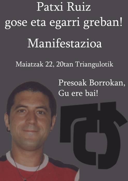 Patxi Ruiz preso politikoaren eta gainerakoen egoeraren inguruko irakurketa