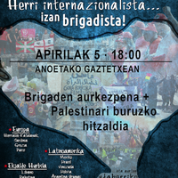 Askapena brigaden aurkezpena eta Palestinari buruzko hitzaldia