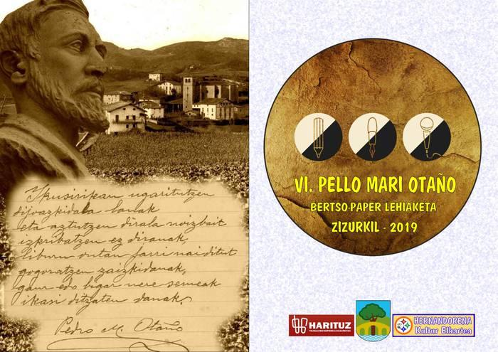 VI. Pello Mª Otaño bertso-paper lehiaketako sarituak erabakita