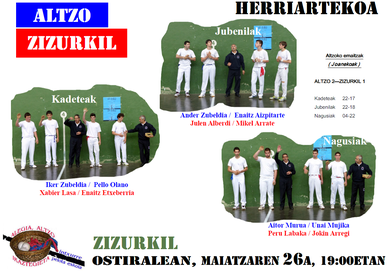 Zizurkil-Altzo, zein azken-laurdenetara