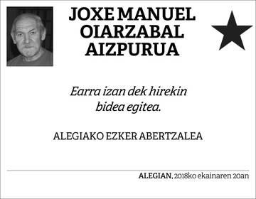 Joxe Manuel Oiarzabal Aizpurua