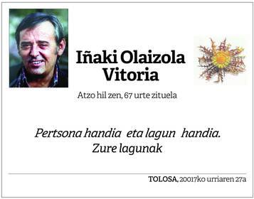 IÑAKI OLAIZOLA VITORIA