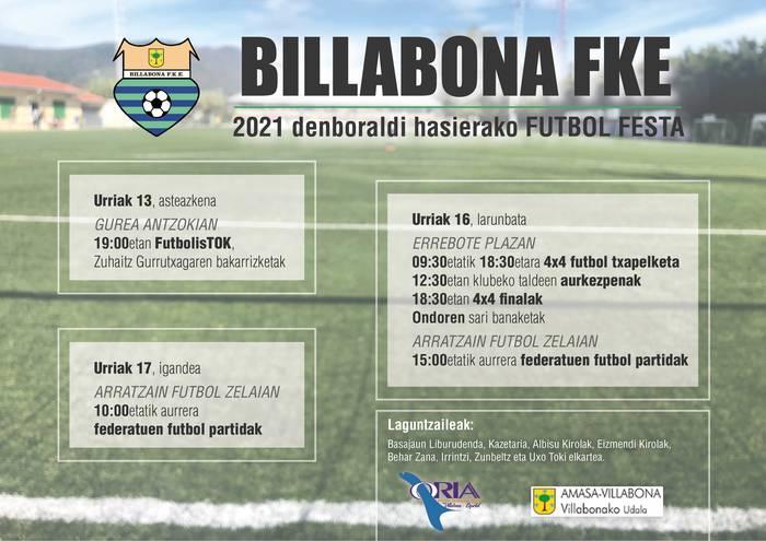 2021 denboraldi hasierako futbol festa, urriaren 13tik 17ra