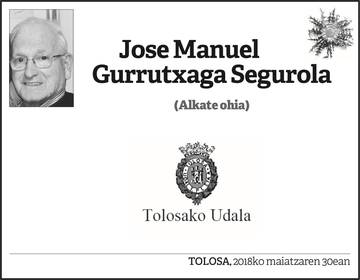 Jose Manuel Gurrutxaga Segurola