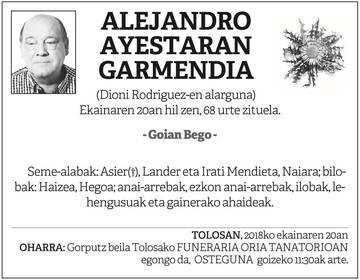 Alejandro Ayestaran Garmendia