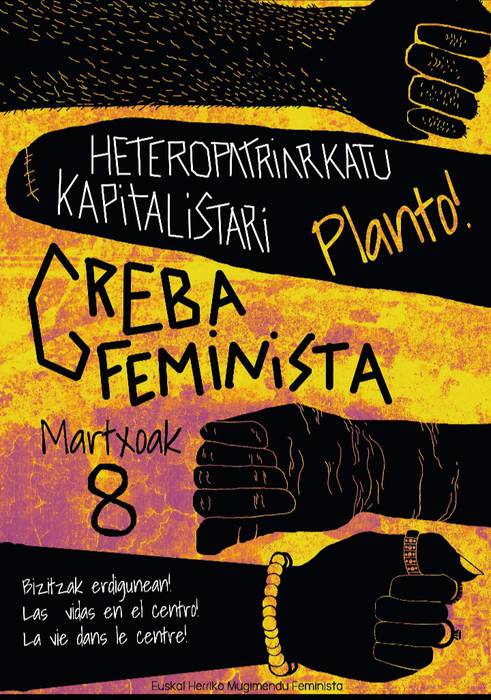 M8ko greba feministaren informazio mahaia