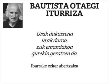 Bautista Otaegi Iturriza
