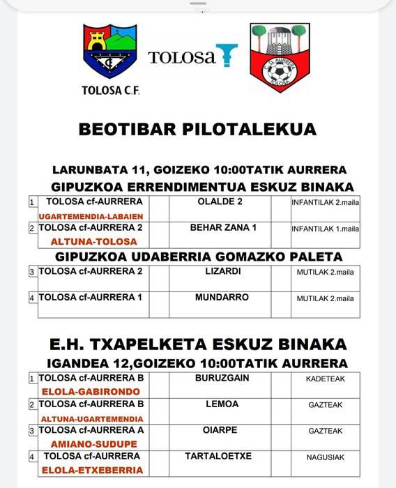 KARTELERA Beotibar Tolosa  2020/01/11-12