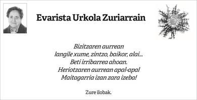 Evarista Urkola Zuriarrain