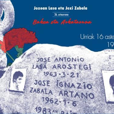 Joxean Lasa eta Joxi Zabala. 36. urteurrena
