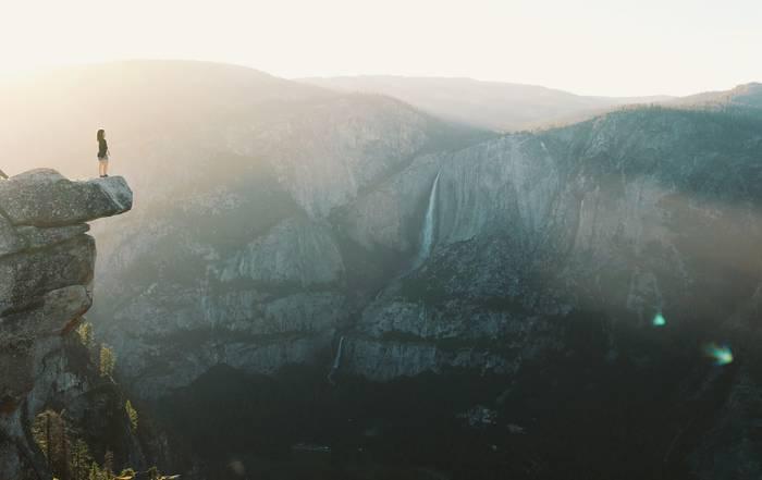 Ilunabarra Yosemiteko puntan