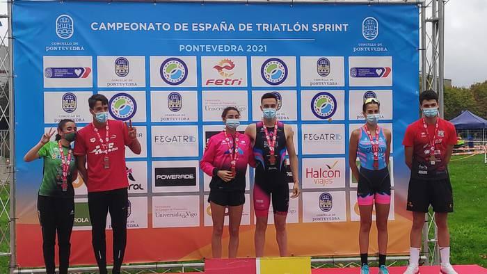 Paula Del Pozo bigarren izan da triatloiko Espainiako superesprint txapelketan