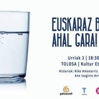Hitzaldia: 'Euskaraz bizi ahal gara!'